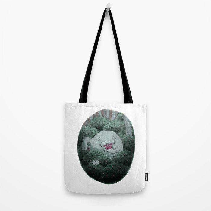 Bear and Berries Tote Bag