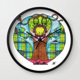 Toad in Tweeds Wall Clock