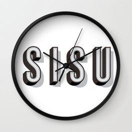 SISU - Finnish Word Wall Clock