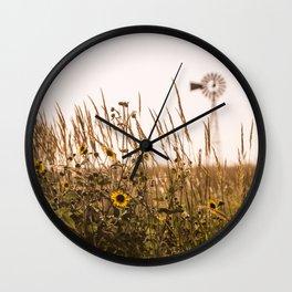 Sunflower Dreams & Windmill Memories... Wall Clock