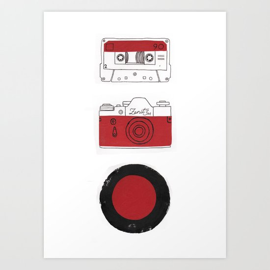 Red And Black. Art Print