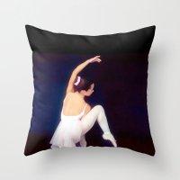 ballerina Throw Pillows featuring Ballerina by Just Art