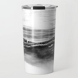 The Boat Black and White Travel Mug