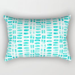 Abstract rectangles - turquoise Rectangular Pillow