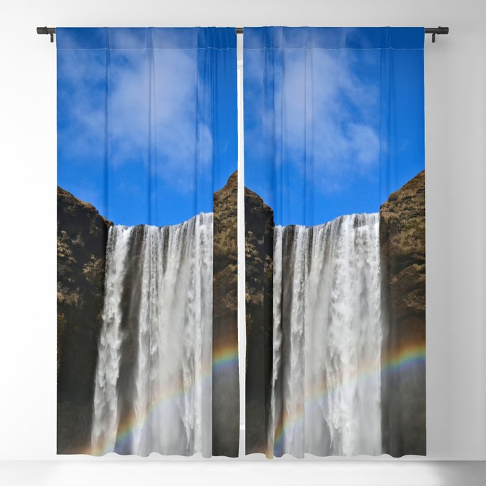 Rainbow loves Waterfall Blackout Curtain