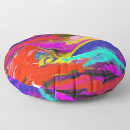 Rainbow Abstract II Floor Pillow
