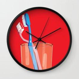 Toothbrush Tango Wall Clock