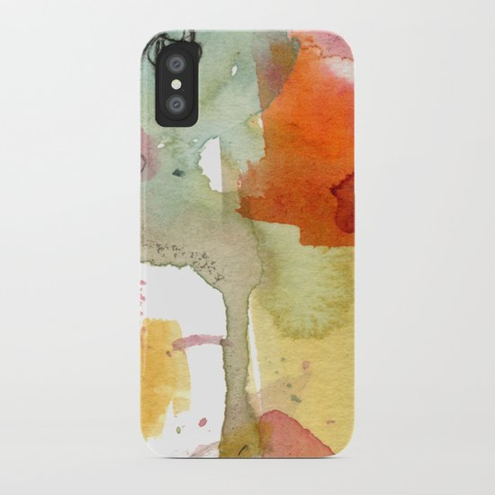 watercolour floral abstract iPhone Case