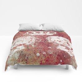 Blood Queendom (spray paint graffiti art, crown with skulls) Comforters