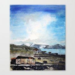 Reykjanes Peninsula and the Lake Canvas Print