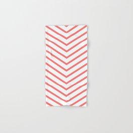 Red lines. Geometric design Hand & Bath Towel