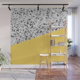 Granite and Primrose Yellow Color Wall Mural