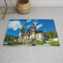 Amazingly Beautiful Romantic Fairytale Peleş Castle Sinaia Romania Europe Ultra HD Rug