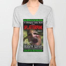 """Splatterpunk"" book cover art with signature Unisex V-Neck"