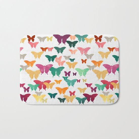 Butterflies & moths Bath Mat