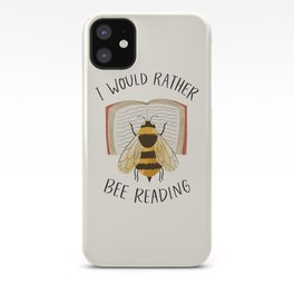 I Would Rather Bee Reading iPhone Case
