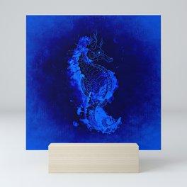 Seahorse Illustration Mini Art Print