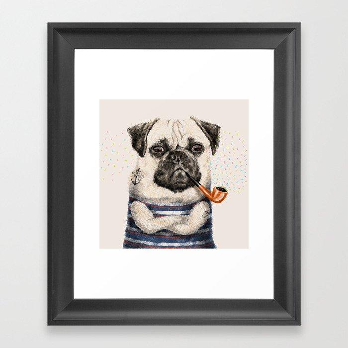 Mr.Pug Framed Art Print