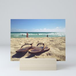 Flip Flops on the Beach Mini Art Print