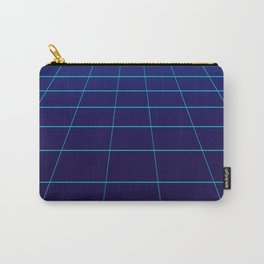 Minimalist Blue Gradient Grid Lines Carry-All Pouch
