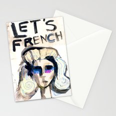 LET'S FRENCH!  Stationery Cards