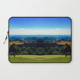 Panoramic view into a summertime scenery Laptop Sleeve