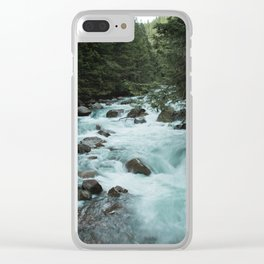 Pacific Northwest River II - Nature Photography Clear iPhone Case