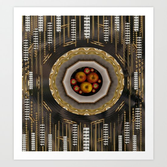 apple mac pro pattern Art Print