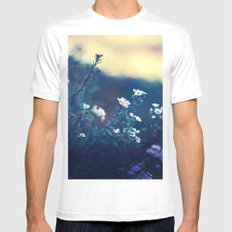 Peaceful Evening White Mens Fitted Tee LARGE