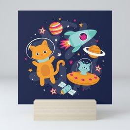 Cosmic Cats Mini Art Print