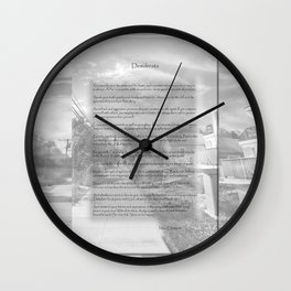 Desiderata on Kismet Wall Clock