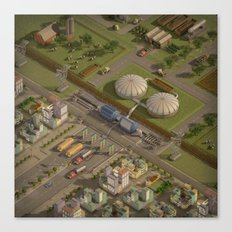Biogas City Canvas Print