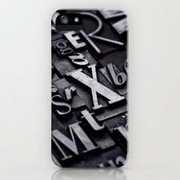 Random Letterpress Letters iPhone Case