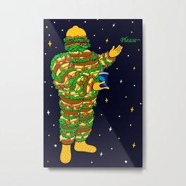 Michelin Hamburger Metal Print