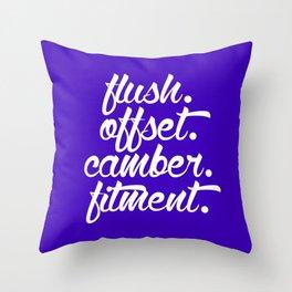 flush offset camber fitment v6 HQvector Throw Pillow
