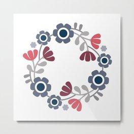 Simple flowers Metal Print