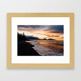 Kaikoura Sunset Framed Art Print