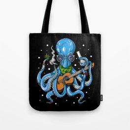 Hippie Octopus Smoking Weed Tote Bag