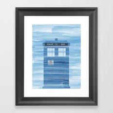TARDIS Under the Sea - Doctor Who Digital Watercolor Framed Art Print