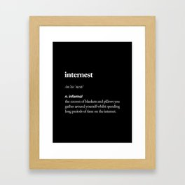 Internest black and white modern typography quote bedroom poster wall art home decor Framed Art Print