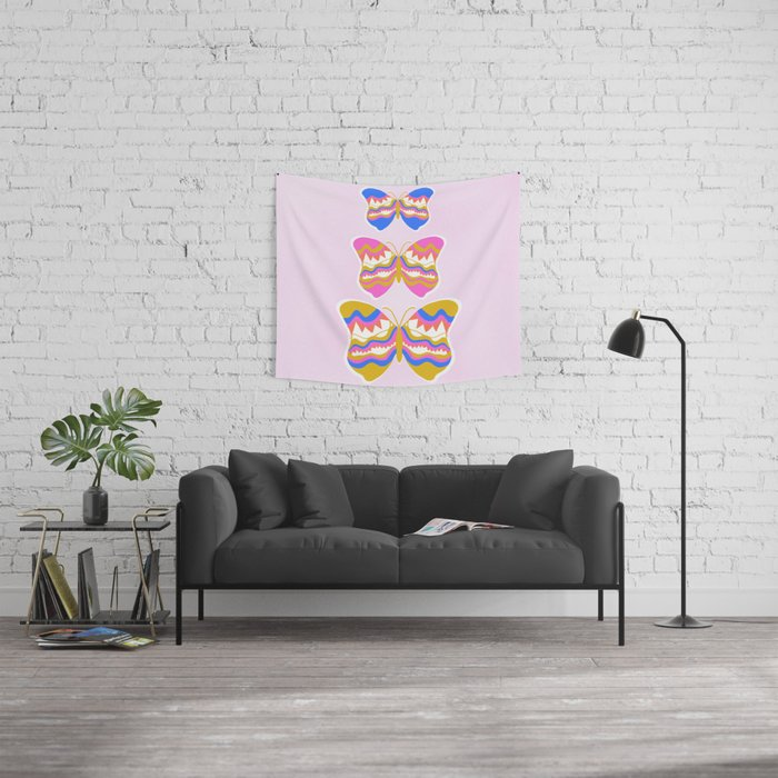 berkeley butterflies Wall Tapestry