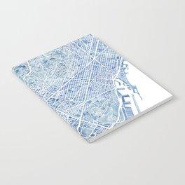 Barcelona Blueprint Watercolor City Map Notebook