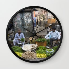 Limes Lemons and spices Wall Clock