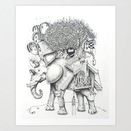 ELEFANTILANDIA Art Print