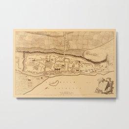 Map Of Montreal 1758 Metal Print