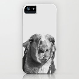 Who's a pretty girl? black and white iPhone Case