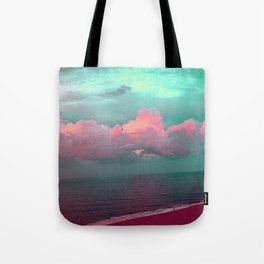 Green sky in the morning, everything is fine Tote Bag