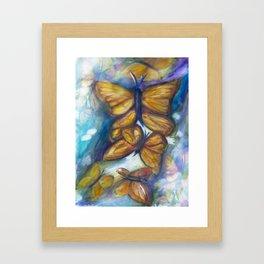 Shaded Wings Framed Art Print