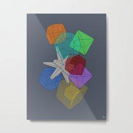 Cluster Flux Metal Print