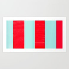 Red Teepee  Art Print
